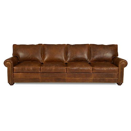 "Studio 109"" Leather Sofa, Brown"