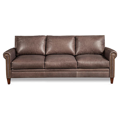 "Walter 87"" Leather Sofa"