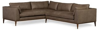 Lucca Sectional, Greige Leather   Sofas U0026 Settees   Living Room   Furniture  | One Kings Lane