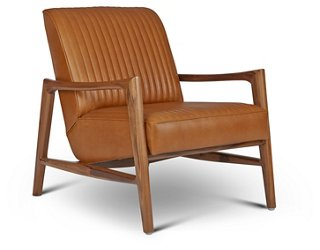 Beau Regis Chair, Saddle Leather   Accent Chairs   Chairs   Living Room    Furniture | One Kings Lane