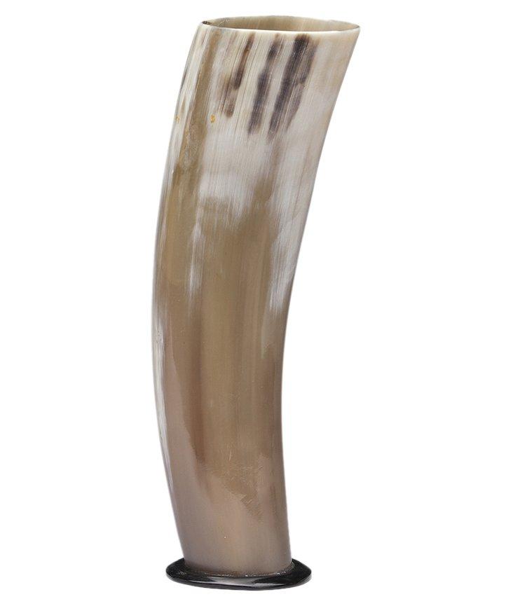 """10"""" Horn Vase, Ivory"""
