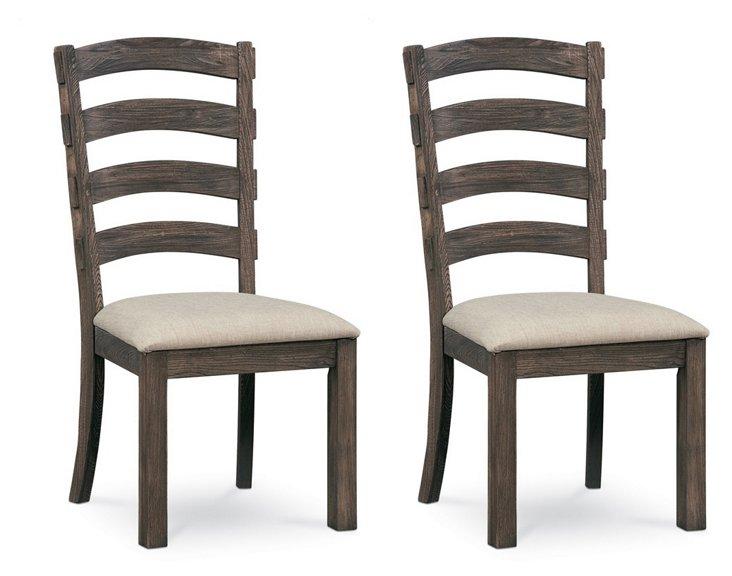 Bennett Side Chairs, Pair