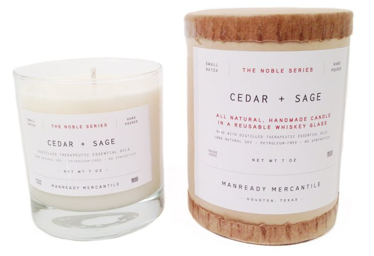 Noble Series Candle, Cedar/Sage