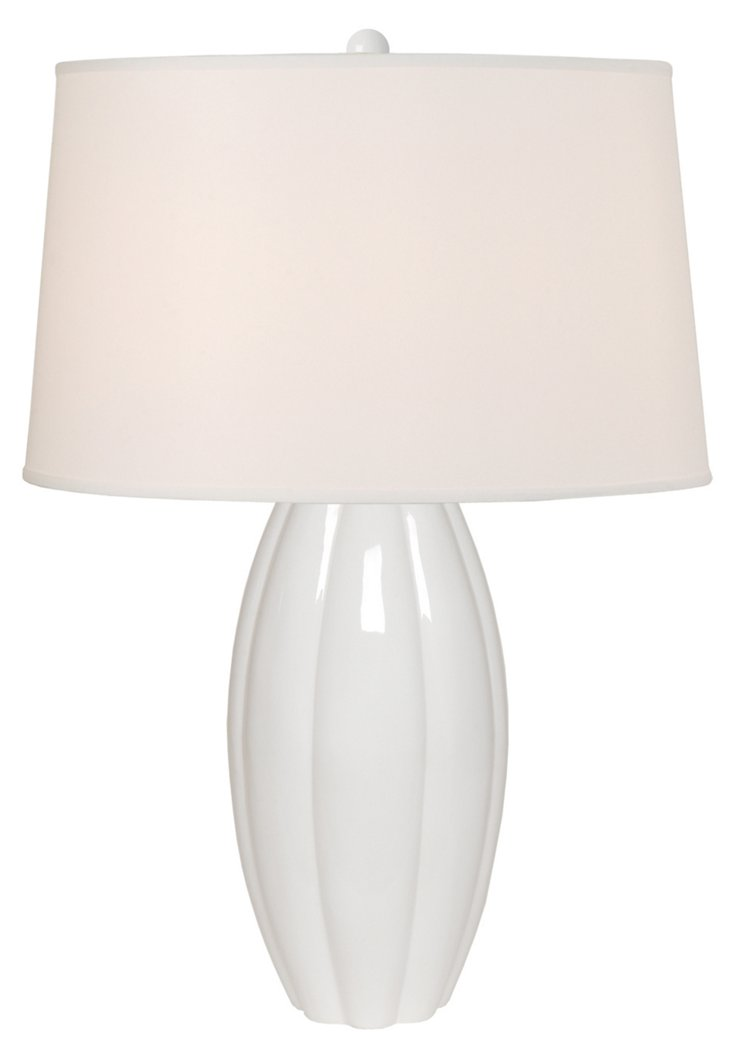 Calabash Vase Table Lamp, White Lamp