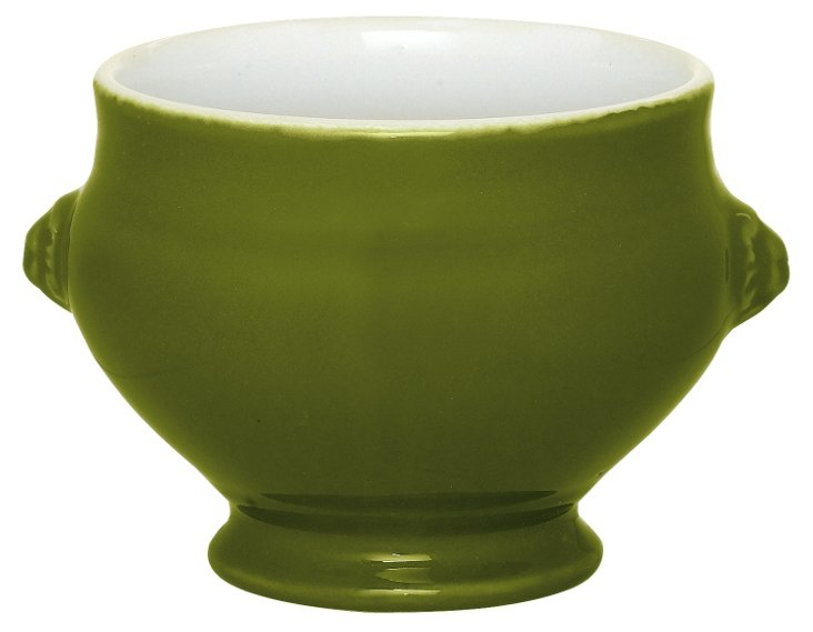 Lion's Head Soup Bowl, Olive