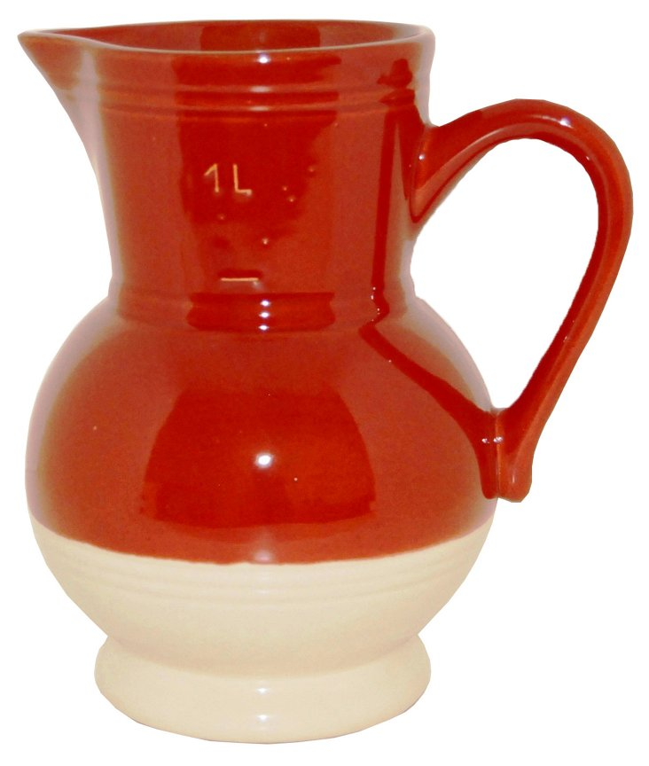 1 Qt Pitcher, Cerise