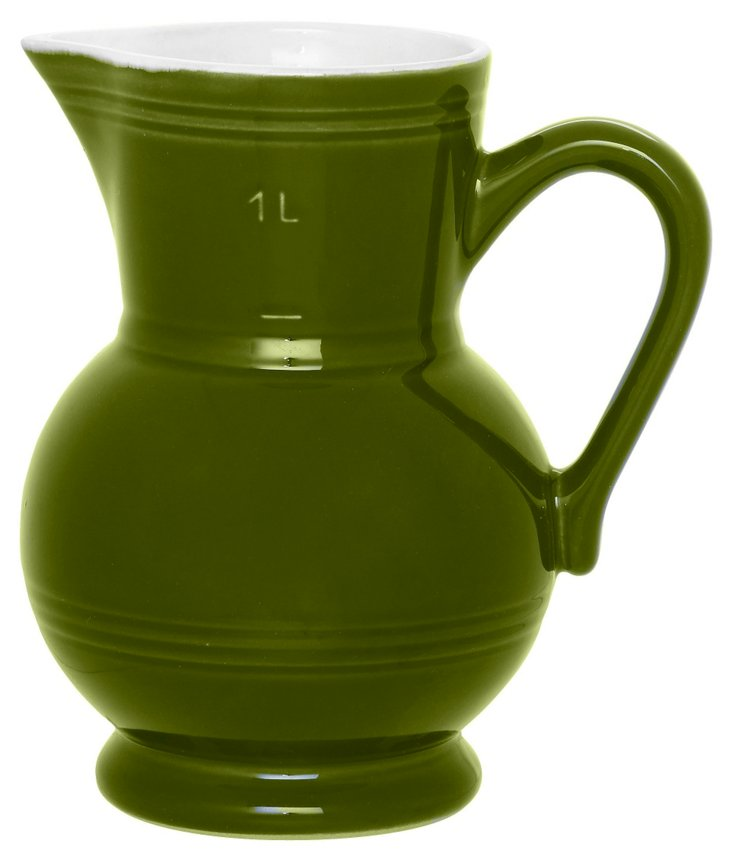 1 Qt Pitcher, Olive