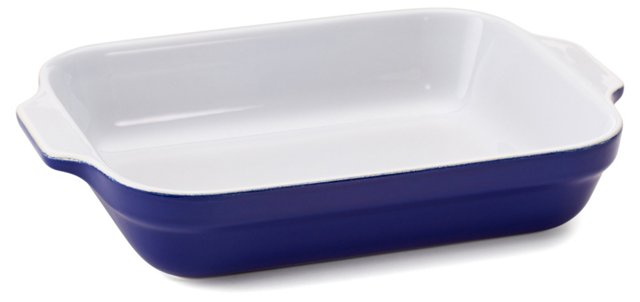 S/2 Assorted Lasagna Dishes, Azur