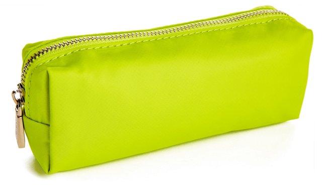 Nylon Cosmetic Bag, Lime