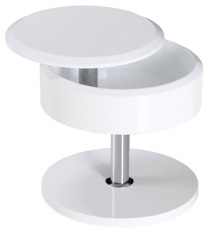 DNU, O-Halston Side Table, Whi