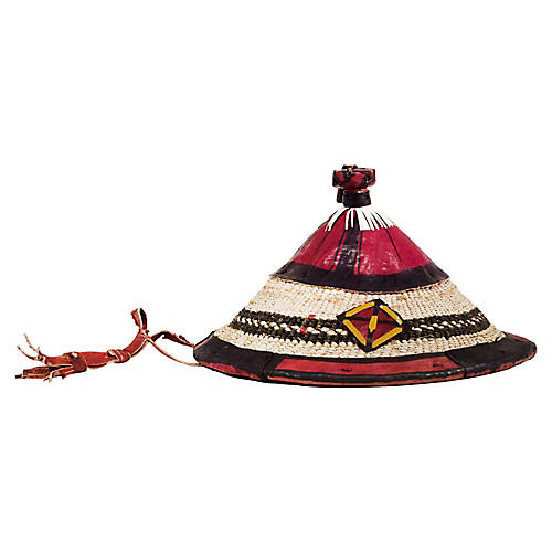 "11"" Traditional Ghanaian Hat, Multi"