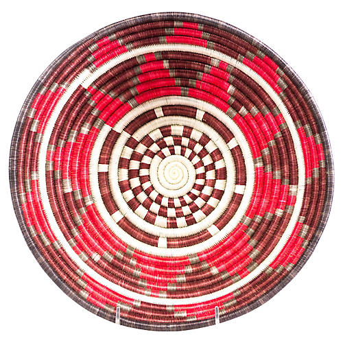 "12"" Thousand Hills Basket, Red/Multi"