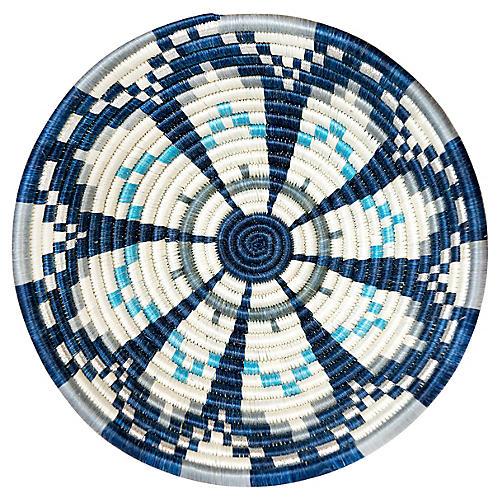 "12"" Ifeza Large Basket, Metallic Blue"