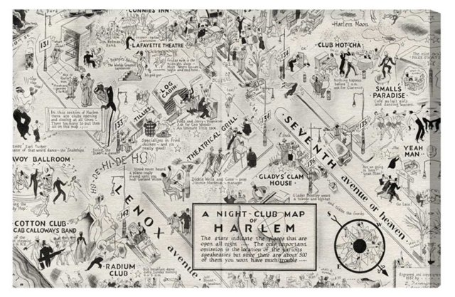 Oliver Gal, Harlem Nightclub Map