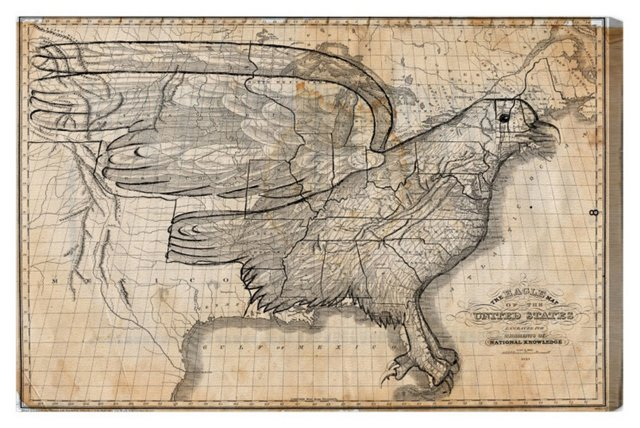 Oliver Gal, The Eagle Map of the US 1833