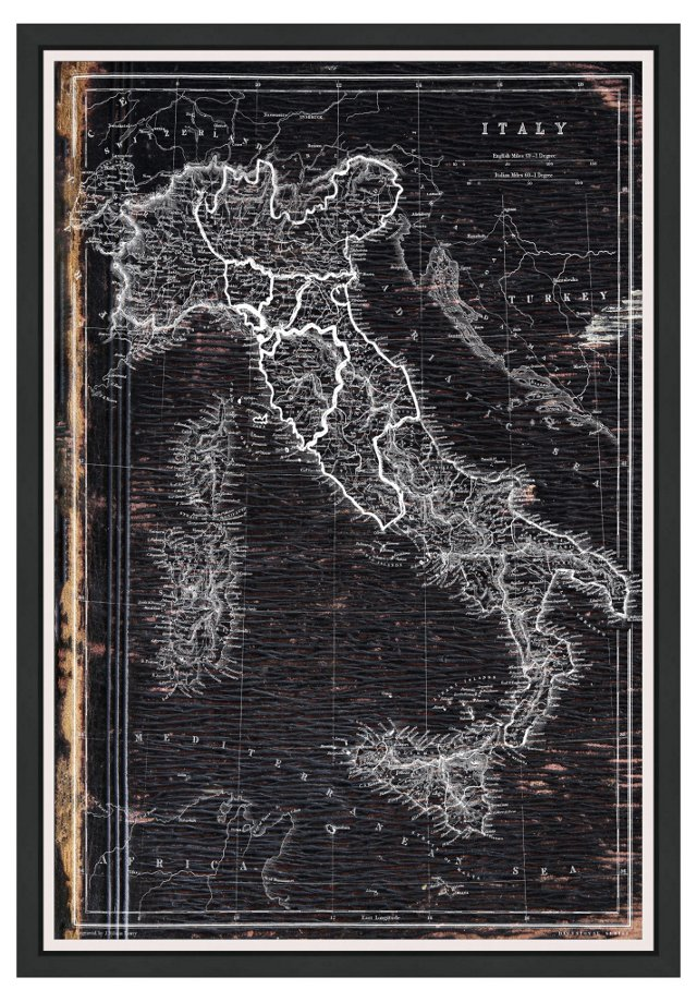 Oliver Gal, Map of Italy, 1873