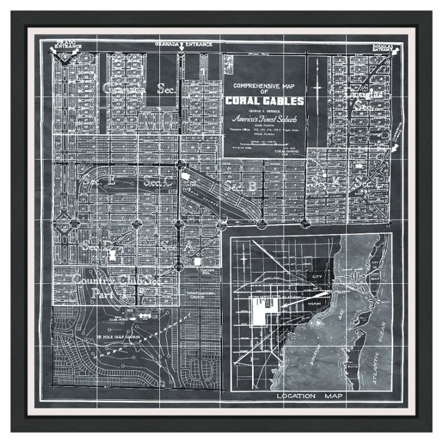 Oliver Gal, Map of Coral Gables, 1929