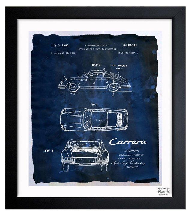 Oliver Gal, Carrera Porsche 1962 - Bleu