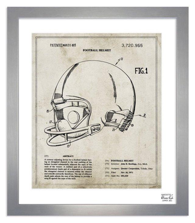 Oliver Gal, Football Helmet 1973