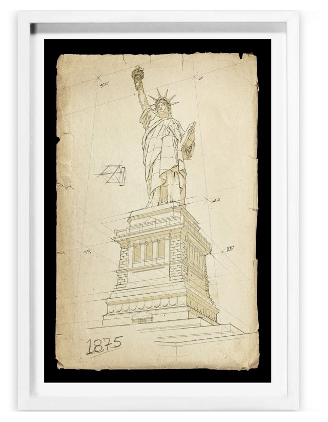 Oliver Gal, Statue of Liberty, 1875
