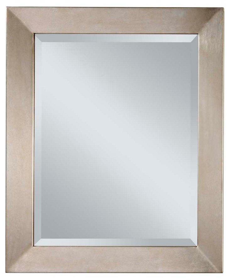 Danby Wall Mirror, Silver Leaf