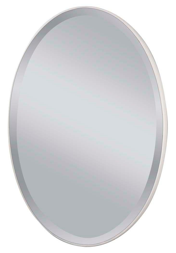Flynn Wall Mirror, White Matte