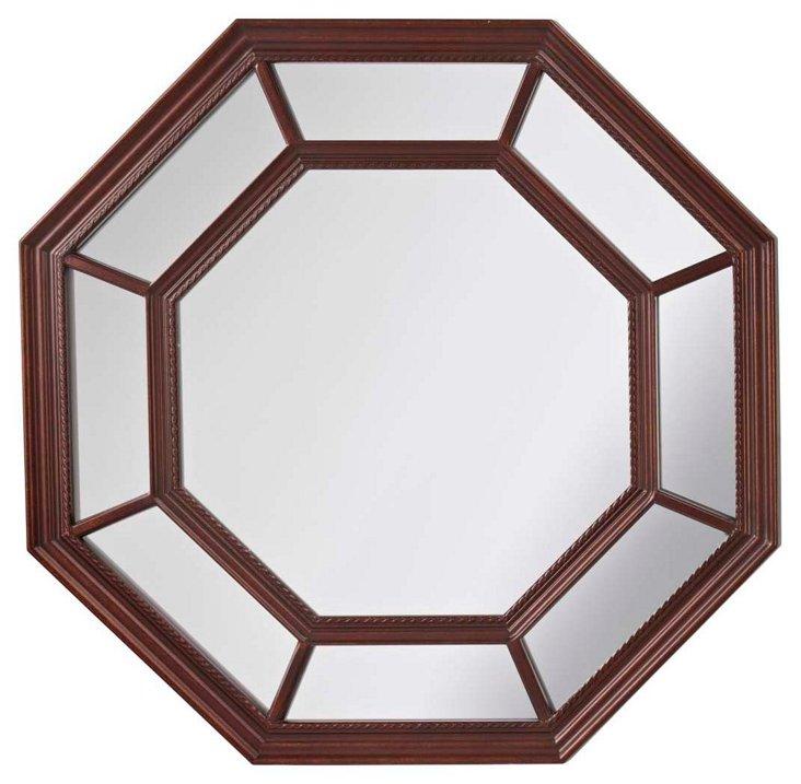 Palladio Wall Mirror, Brown
