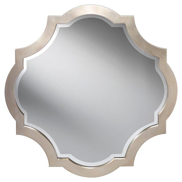 Nadine Wall Mirror, Silver