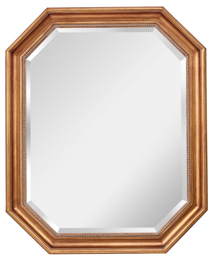Augusta Wall Mirror, Antiqued Gold