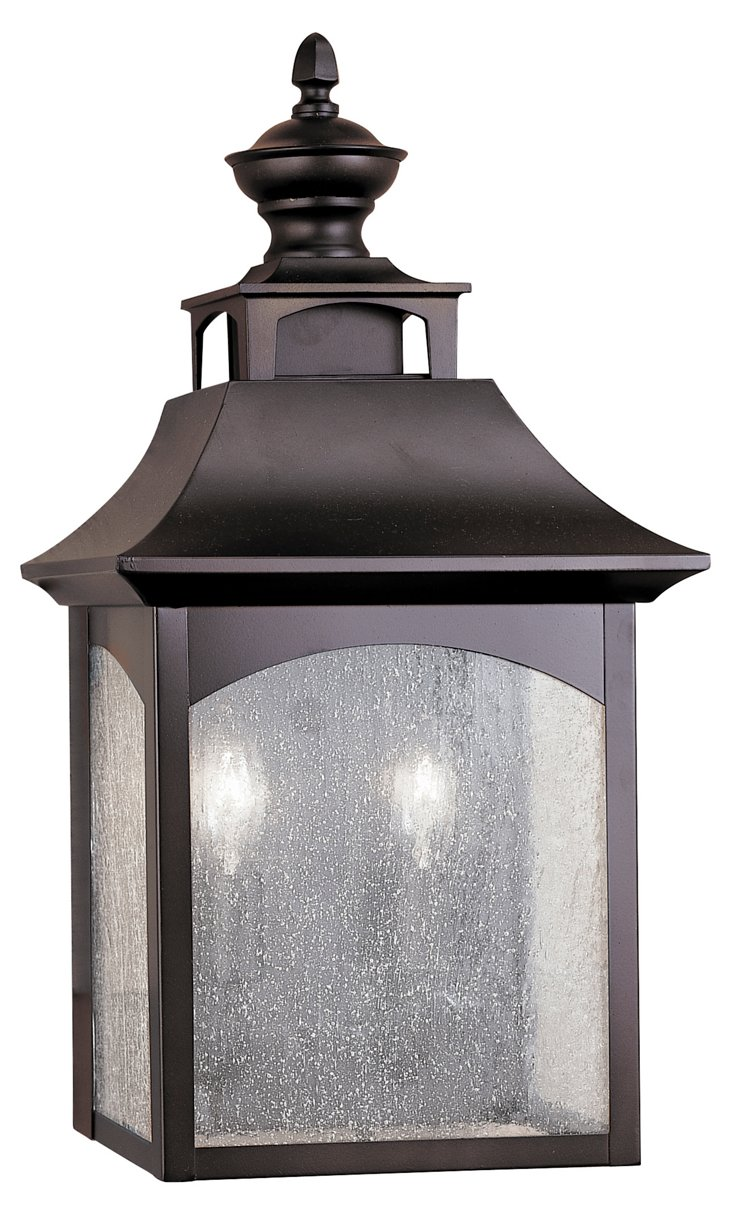 Homestead 2-Light Wall Lantern, Bronze