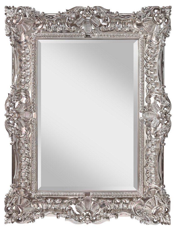 Rosemary Oversize Mirror, Platinum