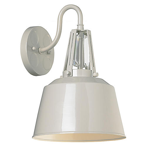 Redmond 1-Light Sconce, Gray