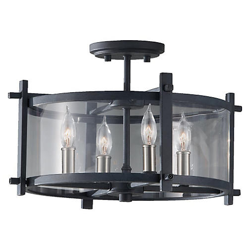Ethan 4-Light Semi Flush Mount, Iron