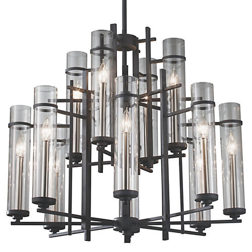 Ethan 12-Light Chandelier, Iron