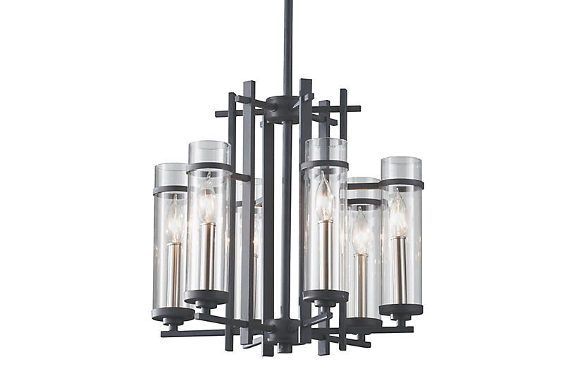 Ethan 6-Light Chandelier, Iron