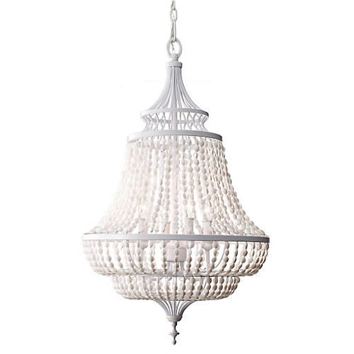 Maarid 4-Light Chandelier, White