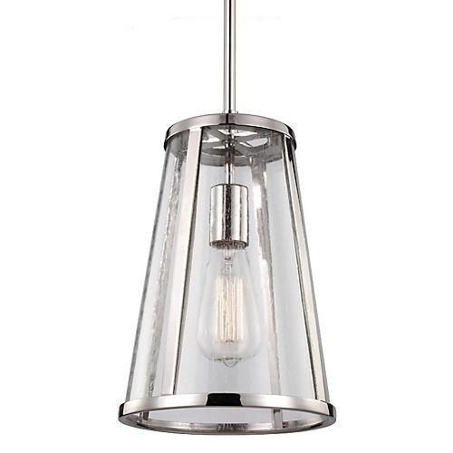 Harrow 1-Light Pendant, Nickel