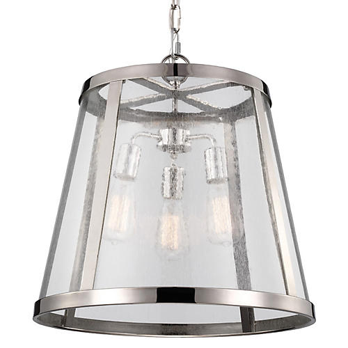 Harrow 3-Light Pendant, Nickel