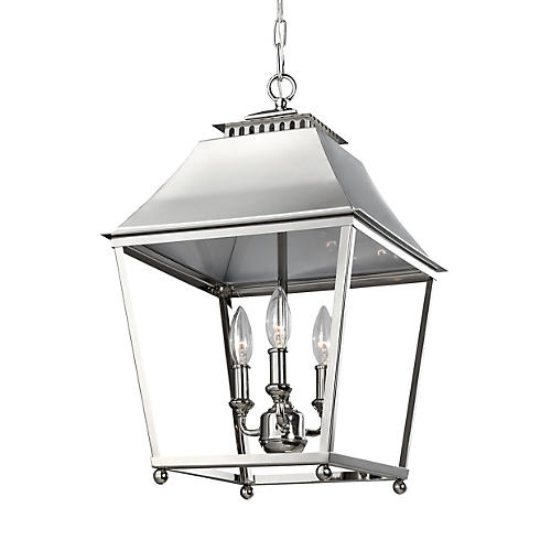 Galloway Pendant, Polished Nickel