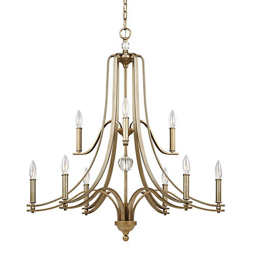 Evington 9-Light Chandelier, Sunset Gold