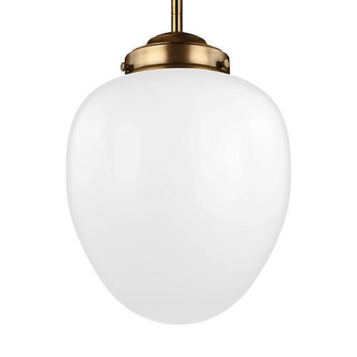 Alcott Pendant, White
