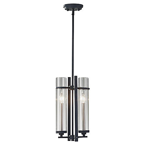 Ethan 2-Light Mini-Pendant, Iron/Steel