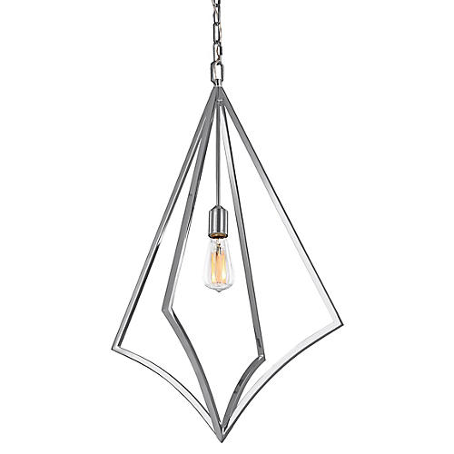 Nico Tall Pendant, Chrome