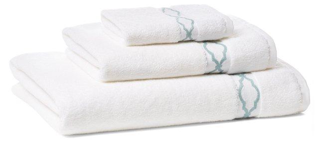 Trellis Towel Set, Aegean