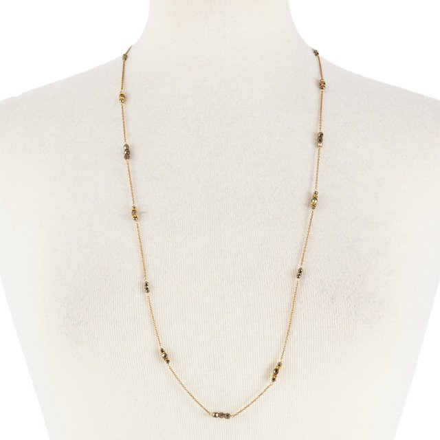 Pyrite Scatter Necklace