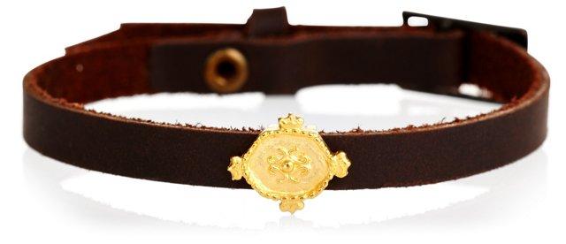 Medallion Slider Leather Bracelet