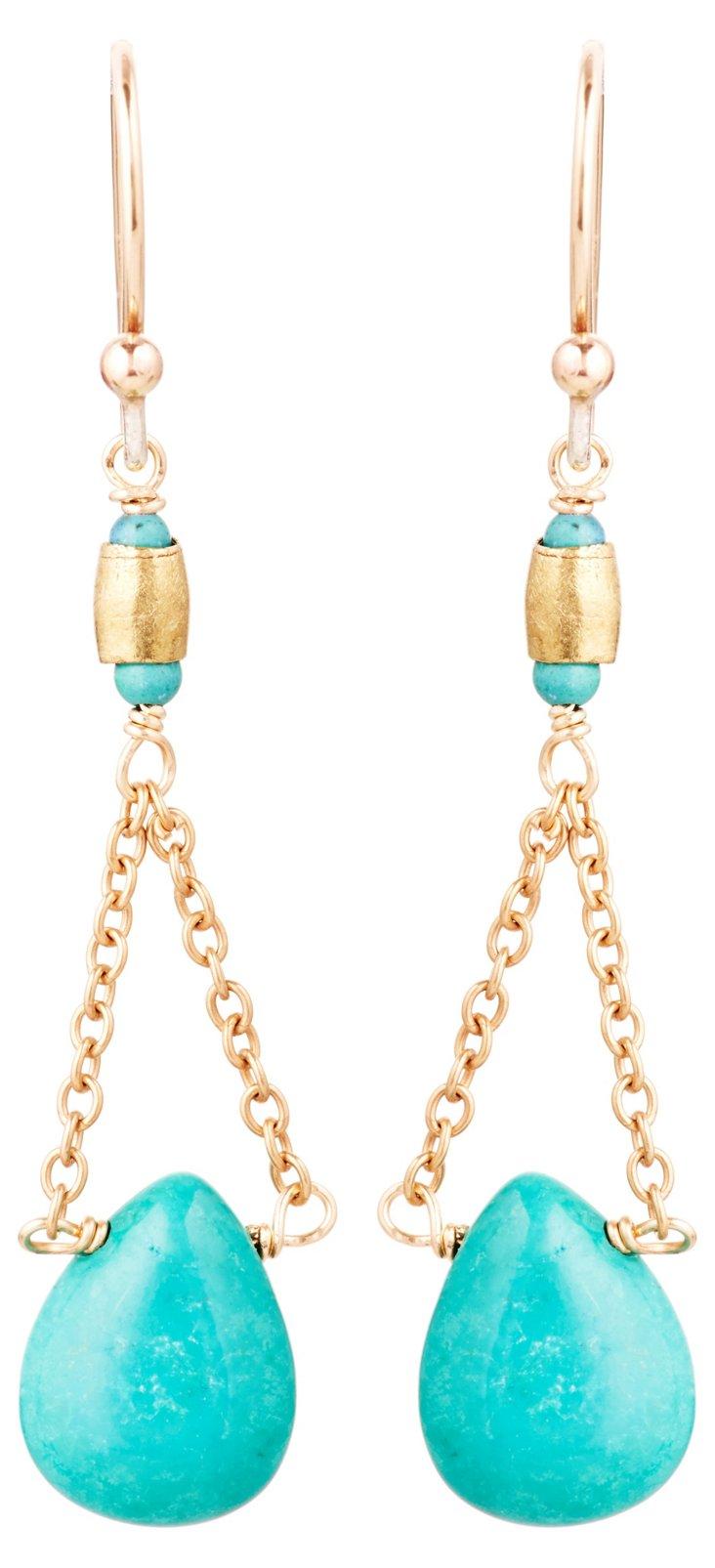 Turquoise Drop & Swing Earrings