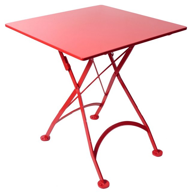"28"" Annapolis Table, Red"