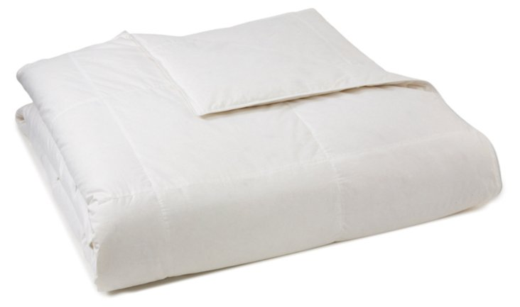 White Down Comforter, Summer