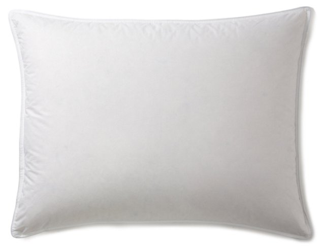 White Down Pillow & Protector, Med
